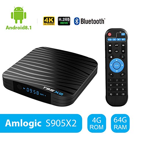 Sidiwen Android 8.1 TV Box T95X2 4GB 64GB Amlogic