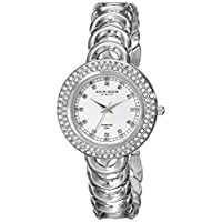 Akribos Xxiv Women's Ak804Ss Metal Watch With Link Bracelet, Silver Band, Analog Display