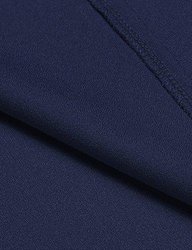ACEVOG Damen Festliches Vintage Sommer Kleid V-Ausschnitt Ärmelloses Minikleid Trägerkleid Kurze Partykleider Cocktailkleider Blau