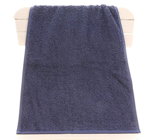TowelsRus Aztex Deluxe Sports Gym Towel, 500gsm, Navy Blue, 30cm x 90cm, 100% Cotton by Towelsrus