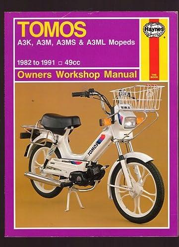 tomos a3k a3m a3ms and a3ml mopeds 1982 91 owner s workshop manual rh amazon co uk tomos revival moped manual thomas moped manual