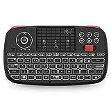 Rii Mini i4 Wireless + Bluetooth (Layout Italiano) - Mini Tastiera retroilluminata con touchpad Compatibile con Smart TV, TV Box, Tablet, Smartphone, Console, PC, Fire TV, Raspberry