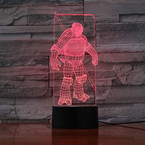 Ninja Turtles Haus - YEXINR 3D Lampe Geschenke,7 Farben Ändern,Led