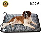 Ubei Pet Electric Heating Pad For Dog And Cat Adjustable Waterproof Anti-bite Steel Cord Dog Large Warm Bed Mat Heated Suitable For Pets Big Deds Pets Blankets And Kennel(28.3