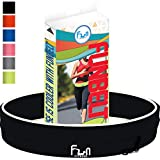 Running Belt (Black, Large) - Premium Fitness Waist Pack - Best Fit