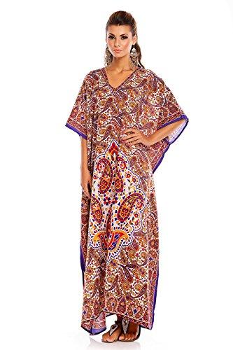 NEU Damen überdimensional Maxi Kimono Kaftan Tunika Kaftan Damen Top freie Größe Blau