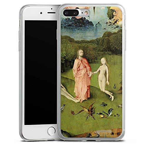 Apple iPhone 8 Slim Case Silikon Hülle Schutzhülle Der Garten Eden Adam und Eva Kunst Silikon Slim Case transparent
