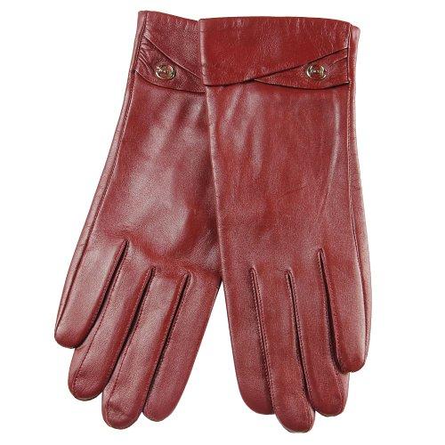 elma-womens-genuine-lambskin-leather-gloves-suede-cuff-silk-lining-gold-plated-logo-l-burgundy