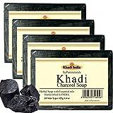 Khadi byPurenaturals Charcoal Soap - 125g Set of 4