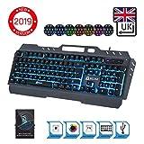 ⭐️KLIM™ Lightning - New - QWERTY Hybrid Keyboard Gamer Video Games Gaming Keyboard