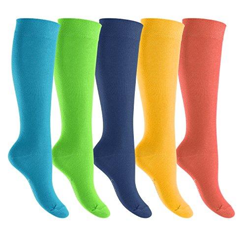 Kniestrümpfe in verschiedenen Farben von footstar - für Damen und Herren