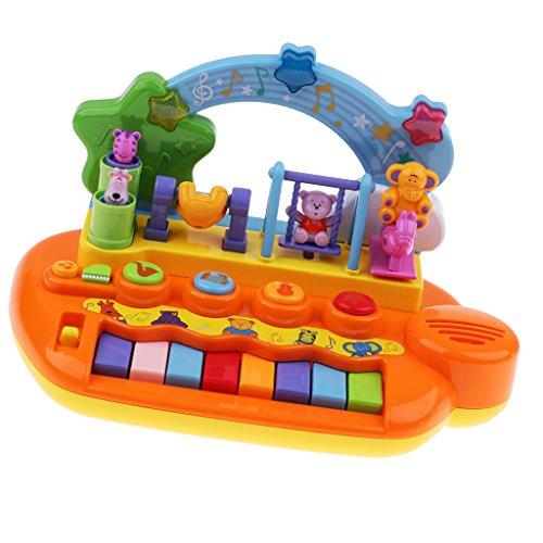 Baoblaze Spielzeug Klavier für Babys und Kinder Keyboard Musikinstrument mit Musik Musikspielzeug Aktivität Klavier und Trommel als Geschenk für Babys und Kleinkinder