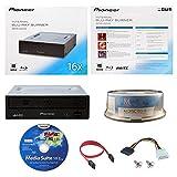 Pioneer BDR-2209 16X Internal Blu-ray BDXL DVD CD Burner Writer-Laufwerk in Kleinkasten mit FREE 15pk MDisc BD + Cyberlink Media Suite Software + Kabel und Befestigungsschrauben