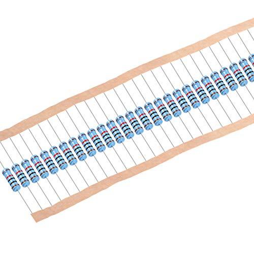sourcing map 30 Stk.Metall Film Resistors 10K ohm 1W 1{3c6caa954f102ef52a120455d11c28797778b1ccb843f7d5d90bdc3663fc7212} Toleranz 5 Farbe Band de