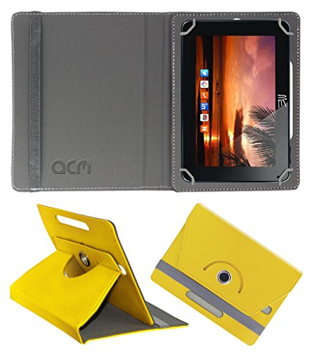 Acm Rotating 360° Leather Flip Case for Hcl Me U2 Cover Stand Yellow  available at amazon for Rs.149