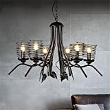 Industrial Vintage Retro Chandeliers Pendant Lights Glow Pen Creative Loft Branches Iron Hanging Rusty Mounting Color 6 Bedrooms Of The Lounge Lights Lighting