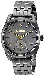 Nixon Mens A9502211 C39 SS Analog Display Swiss Quartz Grey Watch