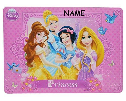 Unterlage - Disney Princess incl. Name - 44 cm * 31 cm - für Kinder Mädchen Prinzessin Rapunzel - Belle - Cinderella - Schneewittchen / kleine ()