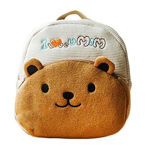 super süß Babyrucksack mit niedliche 3D TierchenMuster, weich Rucksack, Softrucksack, Kindergartenrucksack Kindergartentasche, Schultasche Kinder (bärchen)
