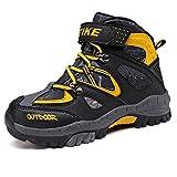 Zapatos de Algodón Botas de Invierno Senderismo para Adolescente-Unisex Niños(Naranja 31EU)