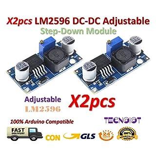 2pcs LM2596 LM2596S DC-DC Adjustable Voltage Regulator Step Down Power Supply