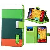 Roar Xperia Z3 COMPACT Handy Hülle Tasche Mädchen, Bookcase Klapp Handytasche, Wallet Etui Schutzhülle für Sony Xperia Z3 COMPACT, Hellgrün Grün Orange