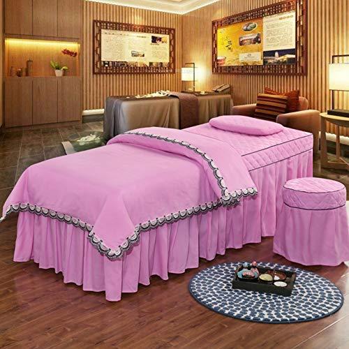 XUESUNSS Schönheit-Bett-Abdeckung Mit Gesicht Rest Loch Schönheit Salon Massage Spa Tagesdecke Ausgestattet Tabelle-Rock Schönheit Show Bett -rosa 80x190cm(31x75inch) (Massage-tabellen-rosa)