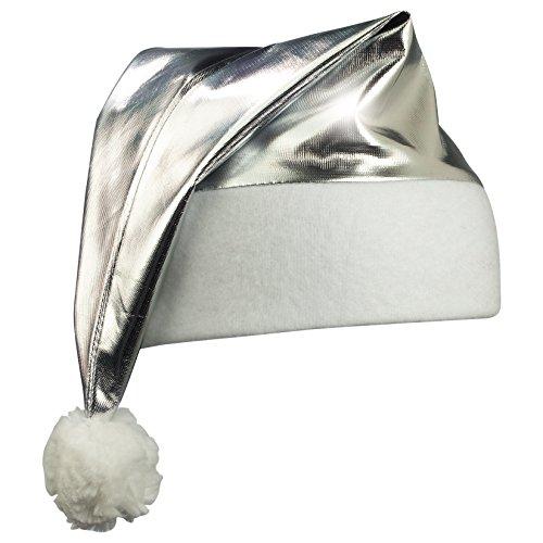 Preisvergleich Produktbild Nikolausmütze silber, Weihnachtsmütze, Zipfelmütze, viele Farben