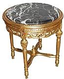 Casa Padrino Barock Beistelltisch Rund Gold ModY18 53 x 47 cm Antik Stil