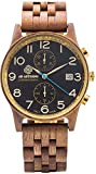 Orologio från Eternal OMFATTAS NUT Al Quarzo (batteri) Wood kvadranten Brown Strap Wood