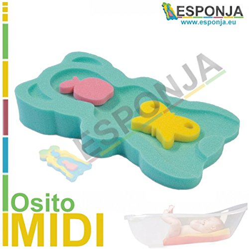 ESPONJA Osito MIDI Verde - Tamaño 48,5 X 27,5 X 7,5 cm...