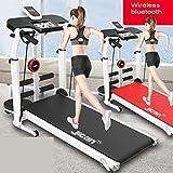Laufbänder Faltende Maschine Tilt Fitness Multi-Funktions-Gewichtsverlust Aerobic Walking (Color : Black, Size : 115x52x110cm) - 6