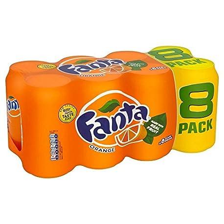 Fanta Naranja 8X330ml Paquete de 2