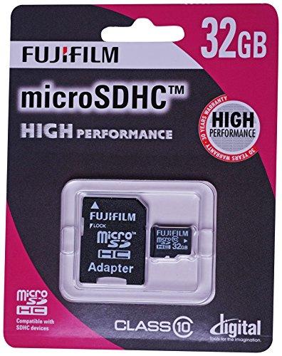 Fujifilm 32GB High Performance C10Micro SDHC Karte mit Adapter