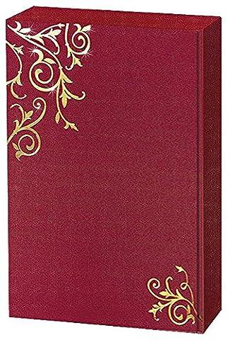 3er Präsentkarton Ornamente Bordeaux