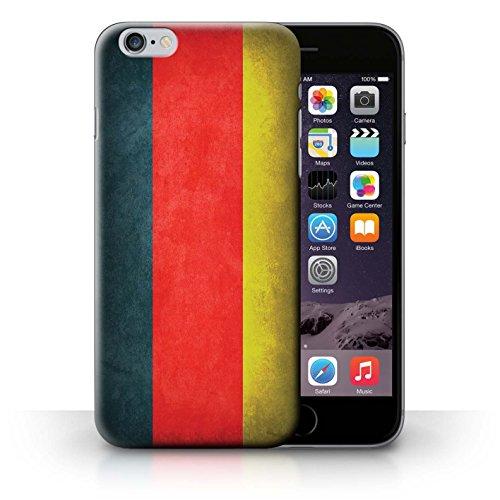 Coque en plastique pour iPhone 6+/Plus 5.5 Collection Drapeau - Suisse Allemagne/allemand