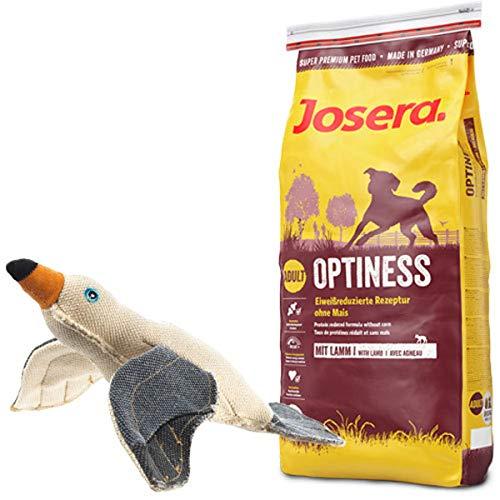 Josera 15 kg Optiness + Hundespielzeug Möwe von Hunter