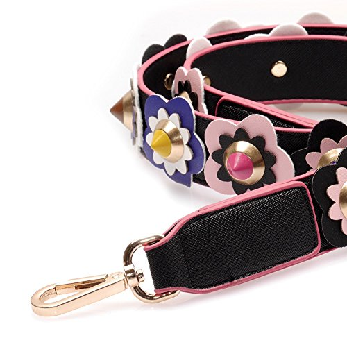 VIVIESTA - Borse a spalla Donna Black with Pink border