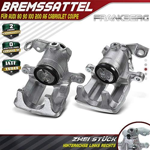 2x Bremssattel Bremszange Hinten Links + Rechts für A6 C4 100 200 80 90 Cabriolet Coupe 1989-2000 4A0615423 -