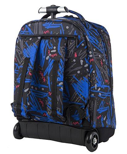 Imagen de big trolley  appack   con ruedas y correas de hombro ocultables negro azul 31lt alternativa