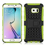Cover Galaxy S6 Edge+, JAMMYLIZARD [Alligator] Custodia Heavy Duty in Silicone TPU e Polimero per Samsung Galaxy S6 Edge Plus, VERDE LIME