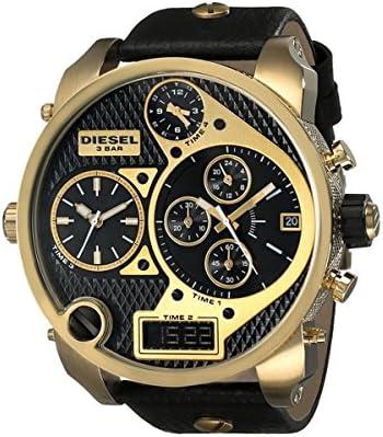 Diesel DZ7323 - Reloj para hombres, correa de cuero color negro
