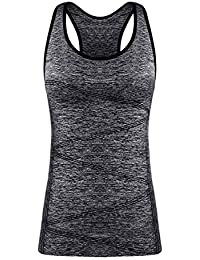 671e9a9bffd Disbest Activewear Vests Racerback Yoga Tank Tops Sleeveless Running Shirts  Sports Workout Tees for Women