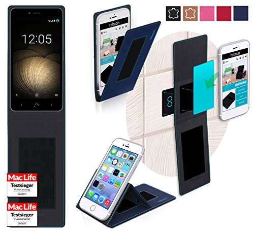 reboon Hülle für BQ Aquaris U Plus Tasche Cover Case Bumper | Blau | Testsieger
