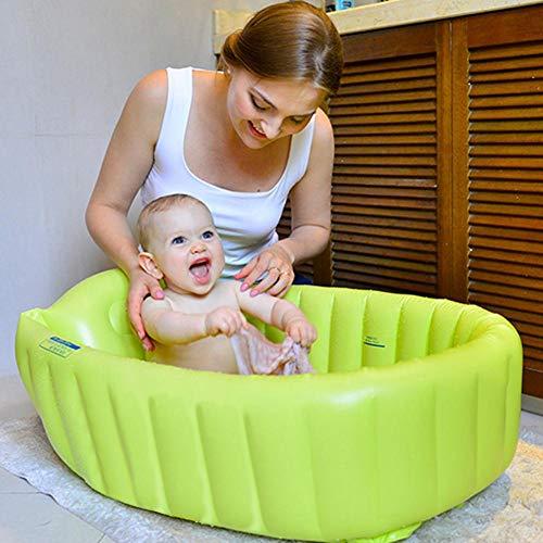 Bouncevi steadyuf Bañera hinchable Bañera Inflable Bebé Lavabo de ducha plegable Bañera engrosada...