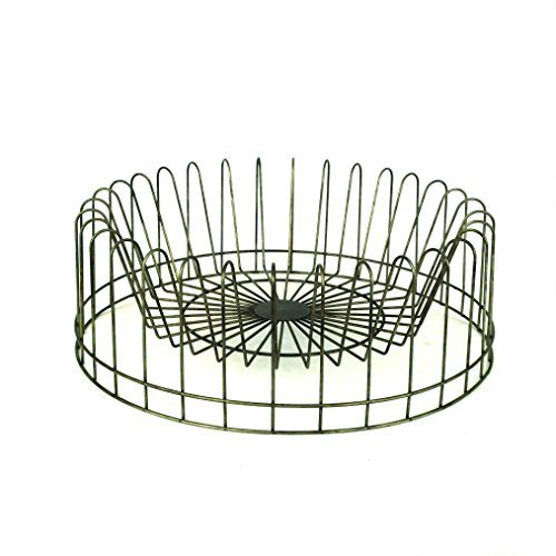 Creative Round Metal Plate Rack by Creative Co-op Metal Plate Rack