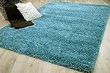 Luxury - Alfombra de Pelo Alto y Largo - Azul Turquesa - 6 tamaños