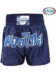 Farabi Sports Short de boxe thaïe Bleu