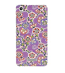 Rangoli Pattern 3D Hard Polycarbonate Designer Back Case Cover for Lava Iris Pixel V1