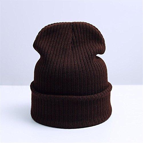 Mode Herbst Winter hat Frauen Mann Hut Skullies Mützen Unisex warme Mütze gestrickt Cap Hüte für Männer Mützen Einfache Mütze weiche Capfor Weihnachten's Thanksgiving Mutter Vater Tag Geburtstag Geschenk (Thanksgiving Baby Kostüme)